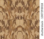 quirky tapestry pattern.... | Shutterstock .eps vector #1307293018