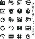 solid black vector icon set  ... | Shutterstock .eps vector #1307297305