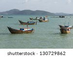 fishing boats at sea taken in... | Shutterstock . vector #130729862