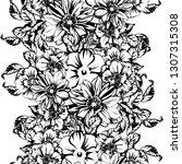 flower print. elegance seamless ...   Shutterstock .eps vector #1307315308
