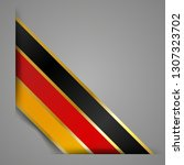 corner ribbon flag of germany.... | Shutterstock .eps vector #1307323702