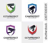 hidden camera logo set design... | Shutterstock .eps vector #1307330335