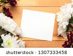 frame of white and red... | Shutterstock . vector #1307333458