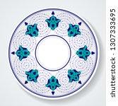ottoman turkish tile pattern.... | Shutterstock .eps vector #1307333695