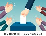 election day concept   Shutterstock .eps vector #1307333875