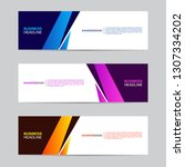 corporate banner collection...   Shutterstock .eps vector #1307334202