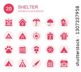 Shelter Icon Set. Collection Of ...