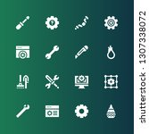 workshop icon set. collection... | Shutterstock .eps vector #1307338072