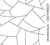 seamless pattern with chaotic... | Shutterstock .eps vector #1307340025