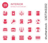 interior icon set. collection... | Shutterstock .eps vector #1307343202