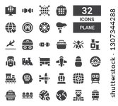 plane icon set. collection of... | Shutterstock .eps vector #1307344288