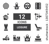 leisure icon set. collection of ... | Shutterstock .eps vector #1307345452