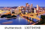 downtown pittsburgh ... | Shutterstock . vector #130734548