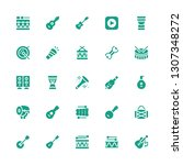 acoustic icon set. collection... | Shutterstock .eps vector #1307348272