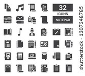 notepad icon set. collection of ...   Shutterstock .eps vector #1307348785