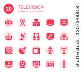television icon set. collection ... | Shutterstock .eps vector #1307348818