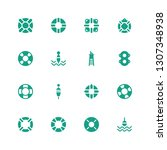 lifeguard icon set. collection... | Shutterstock .eps vector #1307348938