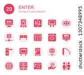 enter icon set. collection of... | Shutterstock .eps vector #1307348995