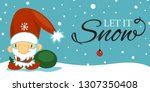 merry christmas and happy new... | Shutterstock . vector #1307350408