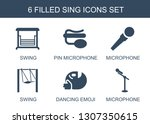 sing icons. trendy 6 sing icons.... | Shutterstock .eps vector #1307350615