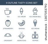 tasty icons. trendy 9 tasty... | Shutterstock .eps vector #1307353792