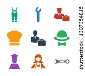 profession icons. trendy 9... | Shutterstock .eps vector #1307354815