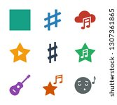 song icons. trendy 9 song icons.... | Shutterstock .eps vector #1307361865