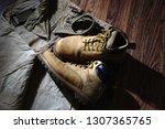 set consisting of tourist pants ... | Shutterstock . vector #1307365765