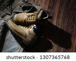 set consisting of tourist pants ... | Shutterstock . vector #1307365768