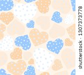 delicate seamless pattern with...   Shutterstock .eps vector #1307373778