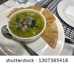 green curry with chicken  kang ...   Shutterstock . vector #1307385418