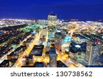 Aerial view of downtown Boston, Massachusettes, USA. - stock photo