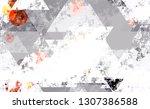 distressed grunge geometric... | Shutterstock .eps vector #1307386588
