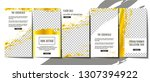 editable stories template... | Shutterstock .eps vector #1307394922