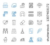 collection icons set.... | Shutterstock .eps vector #1307403172