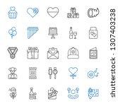 celebration icons set....   Shutterstock .eps vector #1307403238