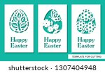 Set Of Greeting Card With Eggs...