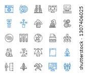 development icons set.... | Shutterstock .eps vector #1307406025