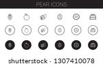 pear icons set. collection of... | Shutterstock .eps vector #1307410078
