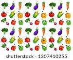 funny vegetables figures | Shutterstock . vector #1307410255
