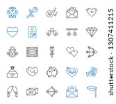 romance icons set. collection... | Shutterstock .eps vector #1307411215