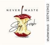 stay fresh slogan with eaten...   Shutterstock .eps vector #1307415412
