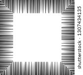 vector geometric frame with... | Shutterstock .eps vector #1307434135