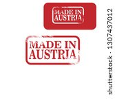 made in austria stamp | Shutterstock .eps vector #1307437012