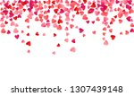 ruby red flying hearts bright... | Shutterstock .eps vector #1307439148