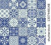 big set of tiles in portuguese  ... | Shutterstock . vector #1307448148
