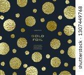 golden circles . bronze polka... | Shutterstock .eps vector #1307449768
