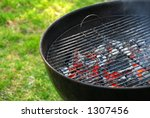 wood burning barbeque | Shutterstock . vector #1307456
