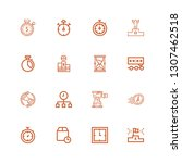 editable 16 second icons for... | Shutterstock .eps vector #1307462518