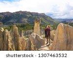 moon valley  la paz bolivia ... | Shutterstock . vector #1307463532